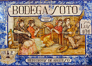 a sign for a bodega in Seville