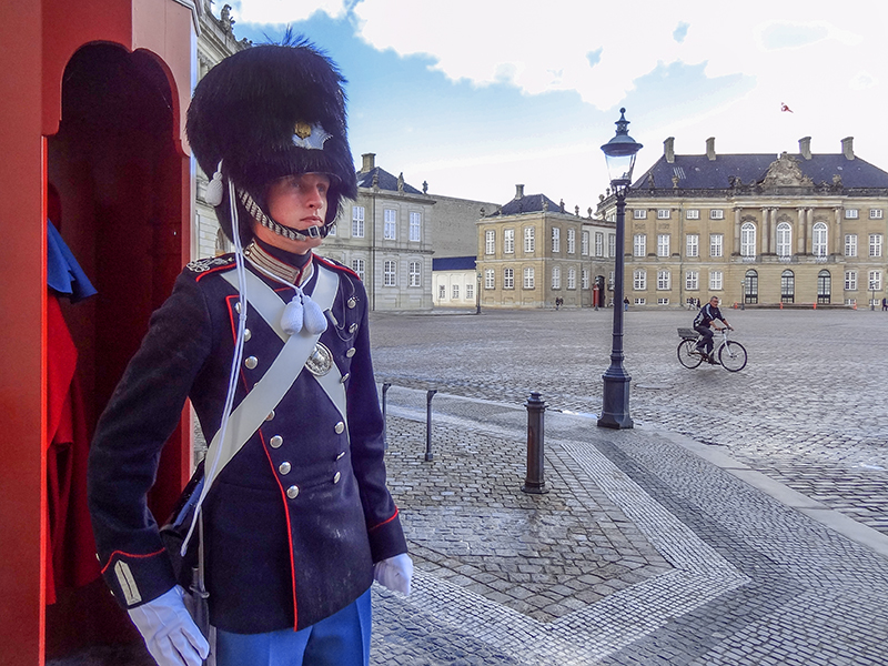 Palace guards in Denmark in Scandinavia