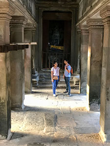 a couple in Angkor Wat