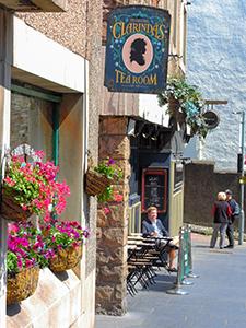 a cafe in Edinburgh, Scotland