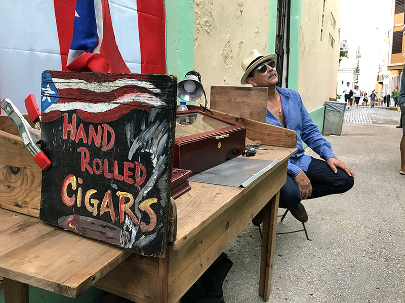 watching a cigar-maker - one of the things to do in Puerto Rico San Juan