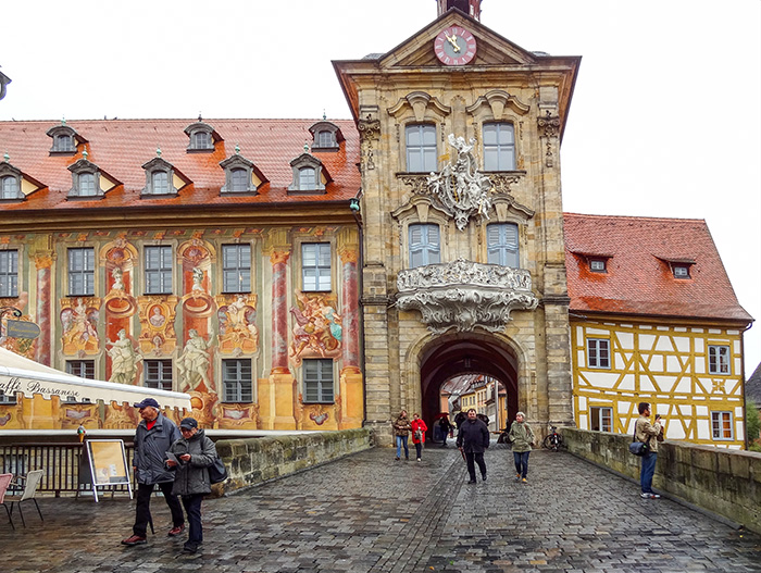 an ornate building in Bamberg, one of the best places to visit in Bavaria