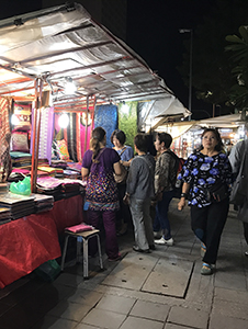 a night market in Chiang Mai