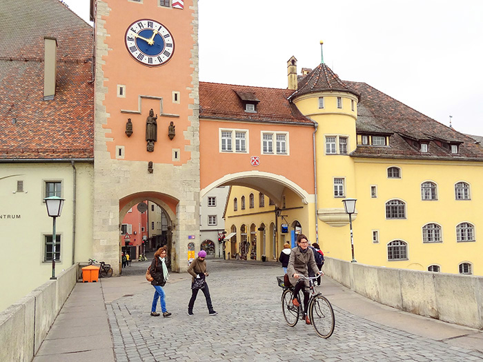 woman on a bike in Bavaria