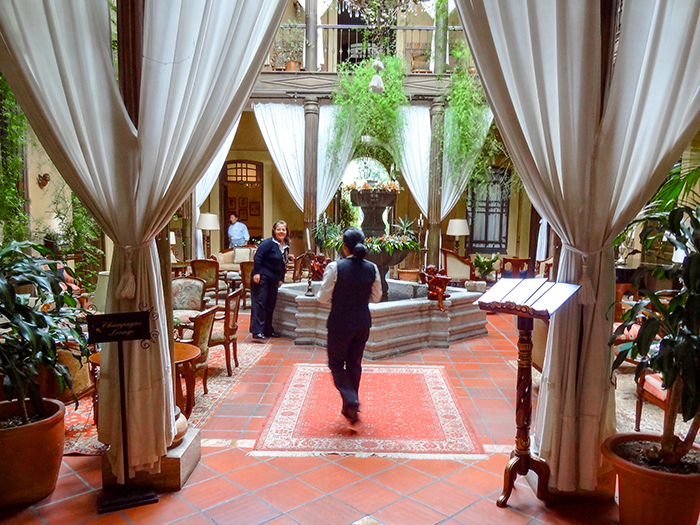 people in a hotel in Cuenca, Ecuador