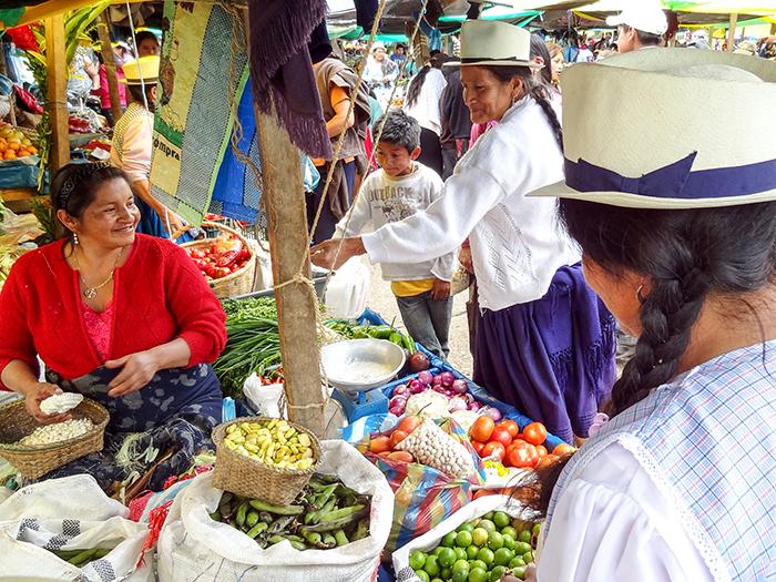 a market in Cuenca, Ecuador
