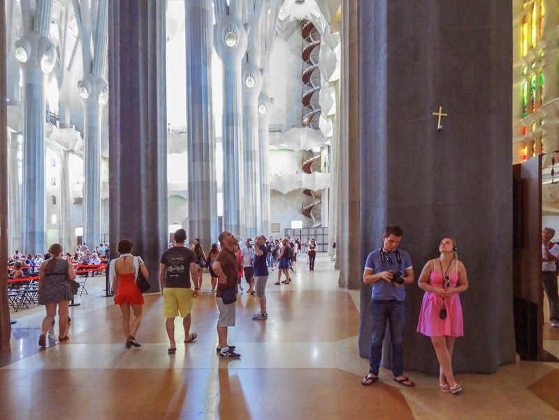 people visiting the Sagrada Família, one of the best things to do in Barcelona