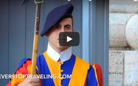 Swiss Guard at the Vatican in Rome, Italy