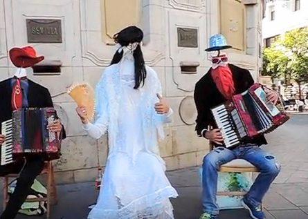 street musicians in Seville, Spain
