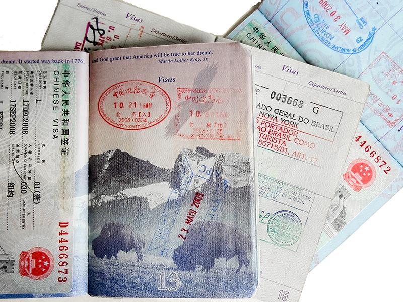 photos of a visa