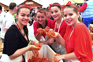 women making sauages