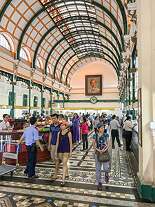 people in a large post office - best city in Vietnam