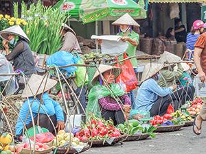 an Asian market - best city in Vietnam