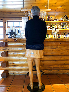 man at a bar - Iceland ice caves