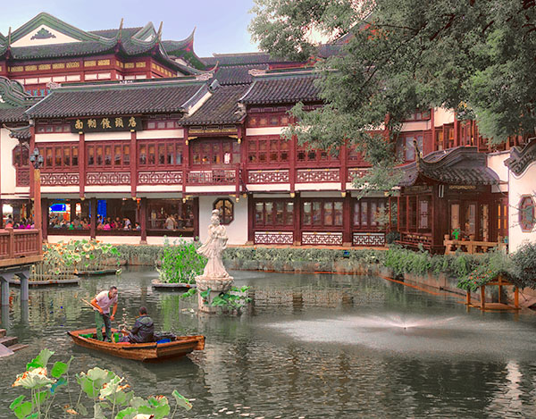pond by an old Chinese building top 10 in Shanghai