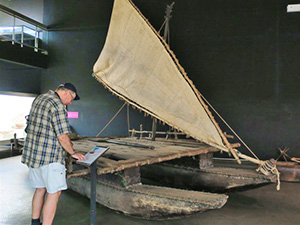 man looking at a museum exhibit -Sydney and the Hunter Valley