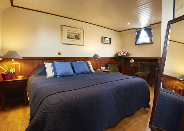 a suite on a barge
