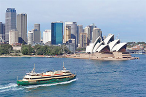 ferry on a harbor - Sydney and the Hunter Valley