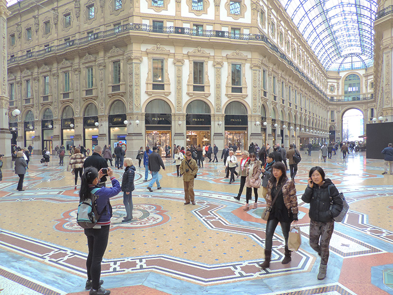people in an ornate mall one of the things to do in Milan