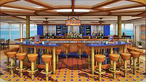 a pool-side bar on a ship