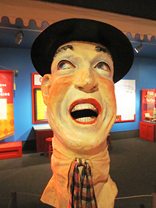 A clown exhinit in the Ringling Circus Museum - things to do in Sarasota