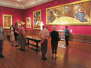 peoiple looking at art in a museum - things to do in Sarasota - Ringling Museum