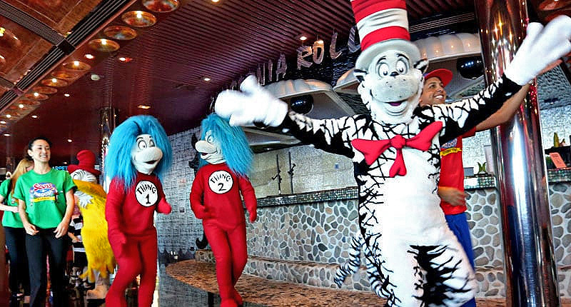 Dr. Seuss characters on a ship