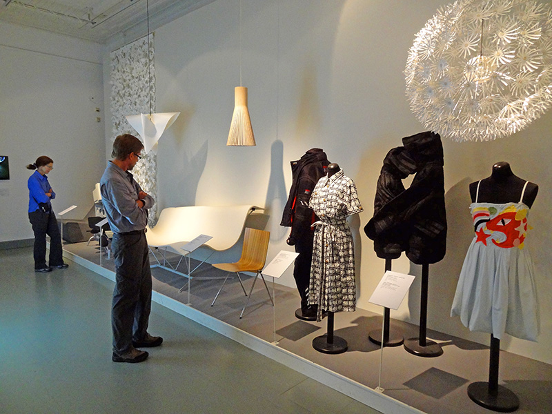 People in the Helsinki Design Museum, one of the top museums in Helsinki