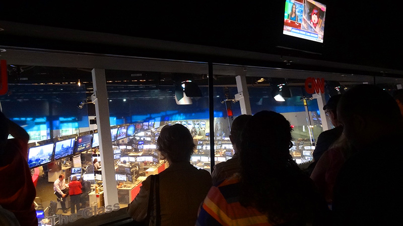 people on a CNN tour, one of Atlanta attractions