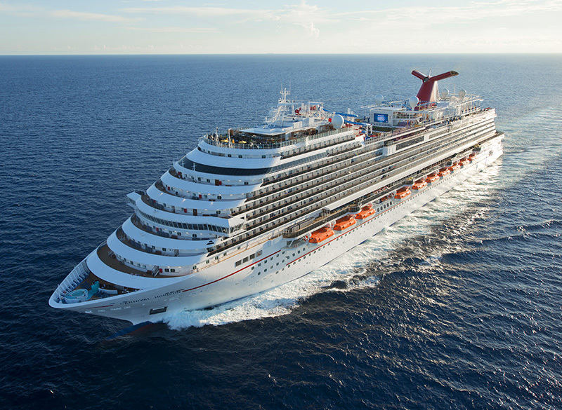aerial view of the Carnival Horizon