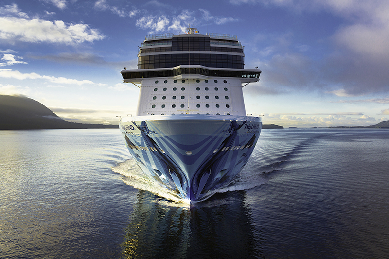 the bow of the Norwegian Bliss
