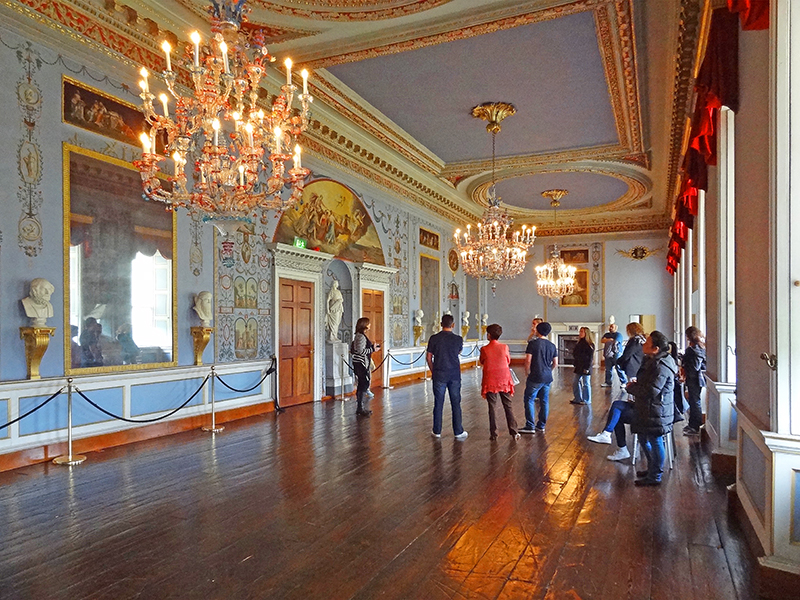 people on a guided tour in Castletown House