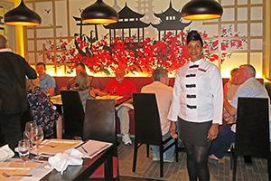 A waitress at a restaurant