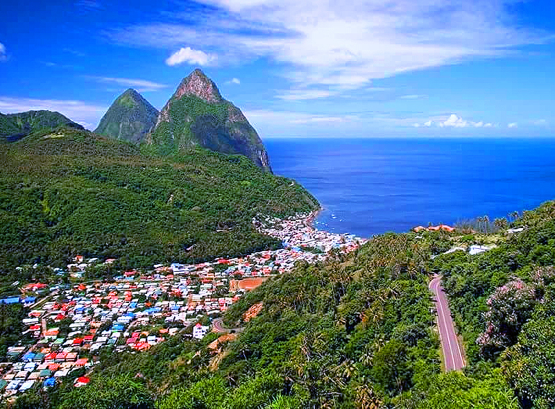 Soufrere with many St. Lucia accommodation