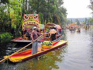 colorful Boats in Xochimilco