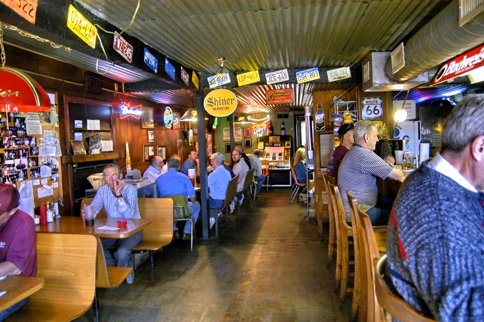 people sitting in a cafe in teh Texas panhandle