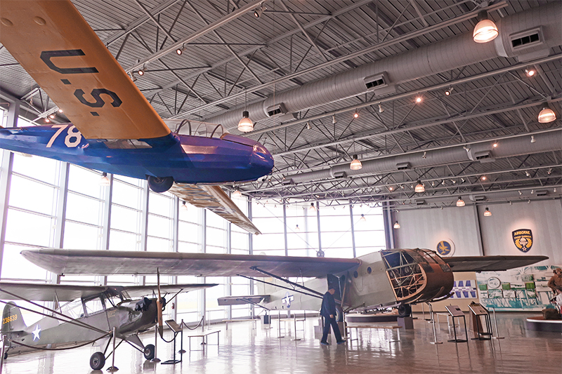 gliders and other aircraft in a museumin the Texas panhandle