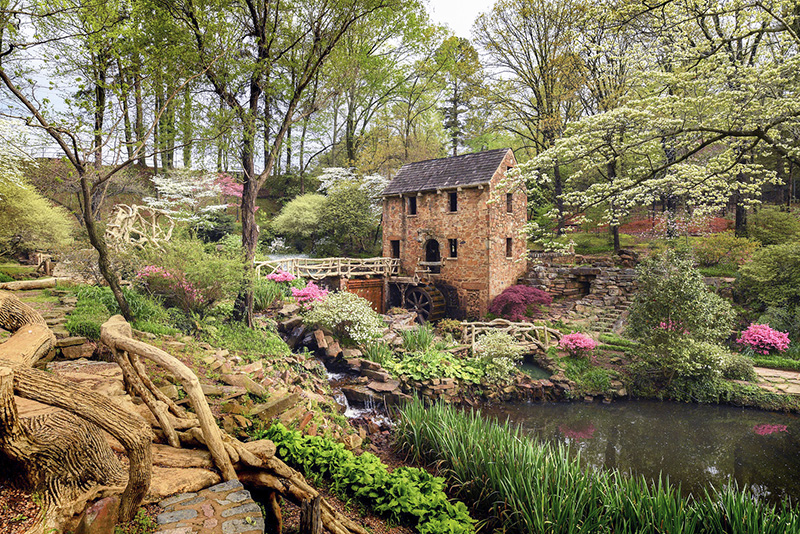 an old mill in the forest, one of the places to visit in Little Rock