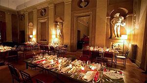 food in a fancy restaurant