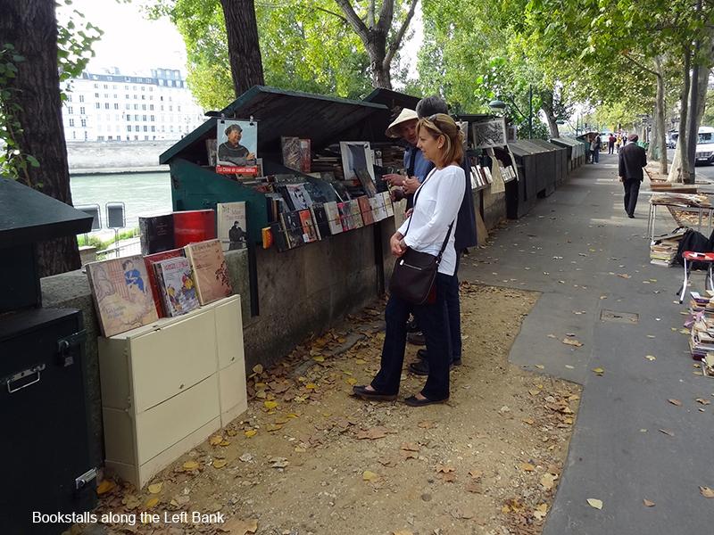 street stalls in photos of Paris
