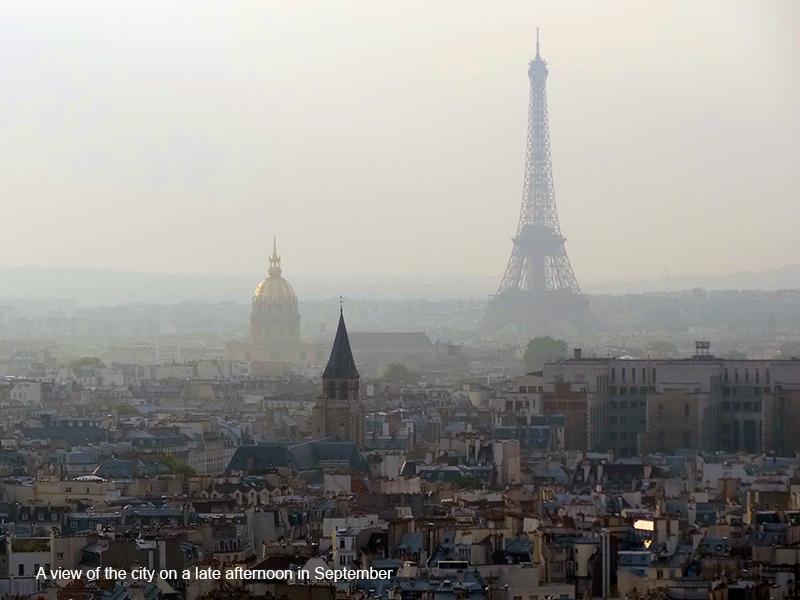a view of Paris in photos of Paris