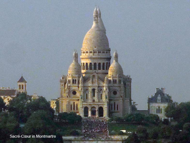a basilica in photos of Paris