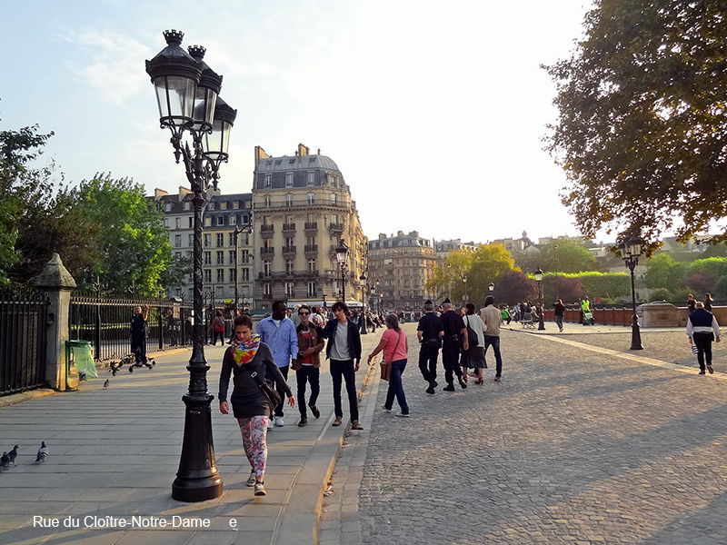 a cobblestone street in photos of Paris