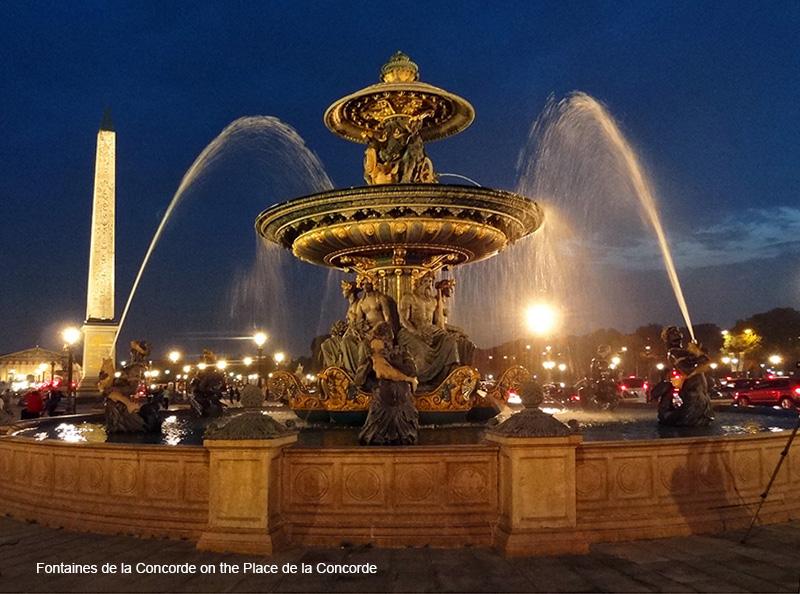 a fountain in photos of Paris