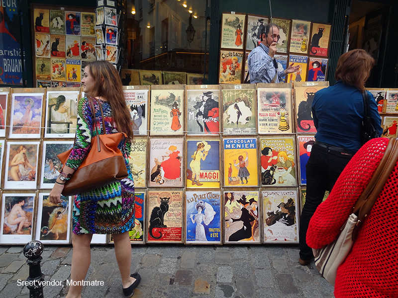 colorful posters in photos of Paris