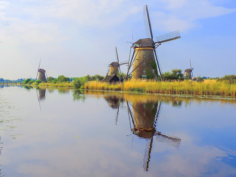 windmills see on a luxury river cruise