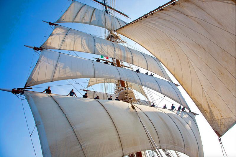 sailors on the sails - sea cloud cruise