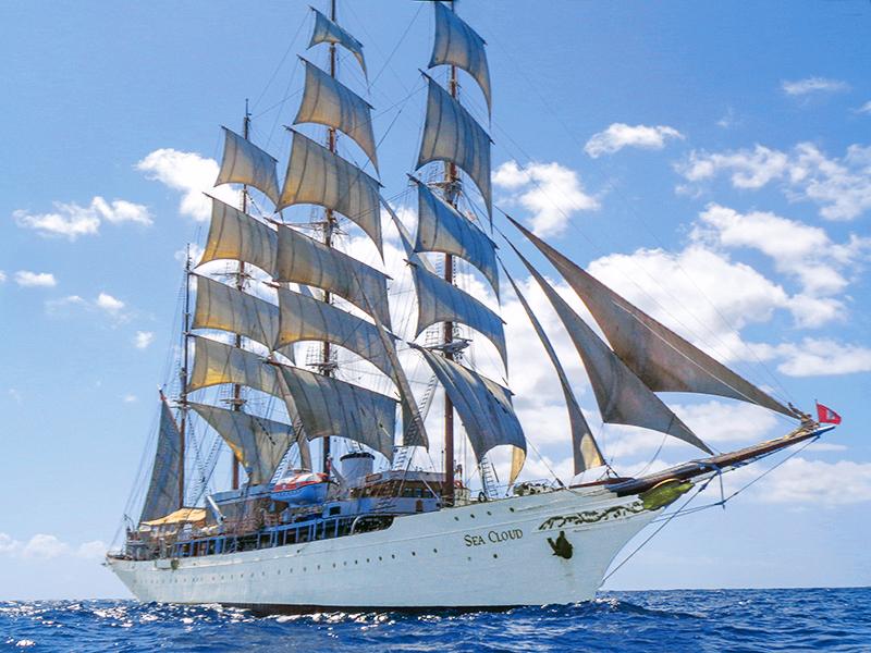a sailing ship - Sea Cloud Cruise