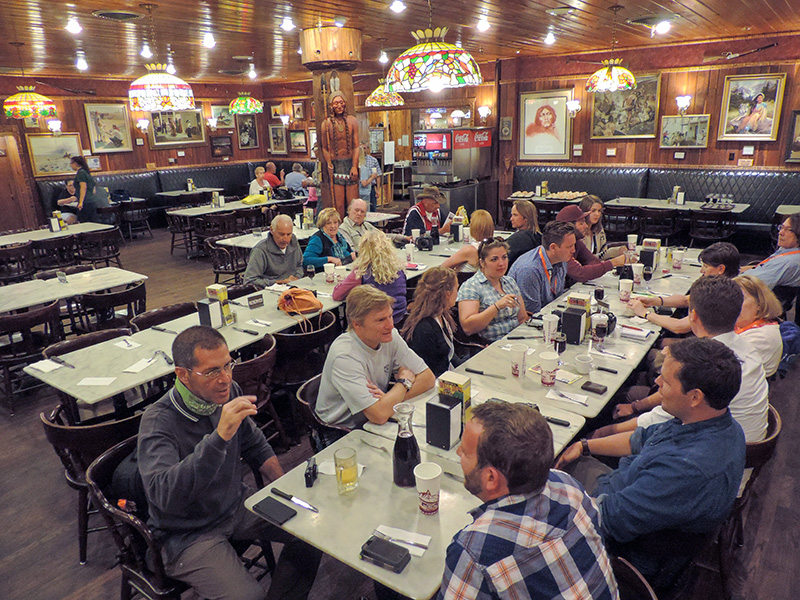 South Dakota road trip - people ina restaurant
