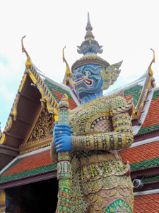 a statue of a devil , one of the things to do in Bangkok